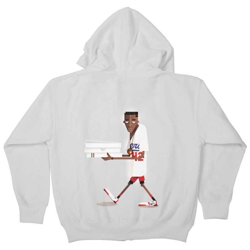 Mookie Kids Zip-Up Hoody by daleedwinmurray's Artist Shop