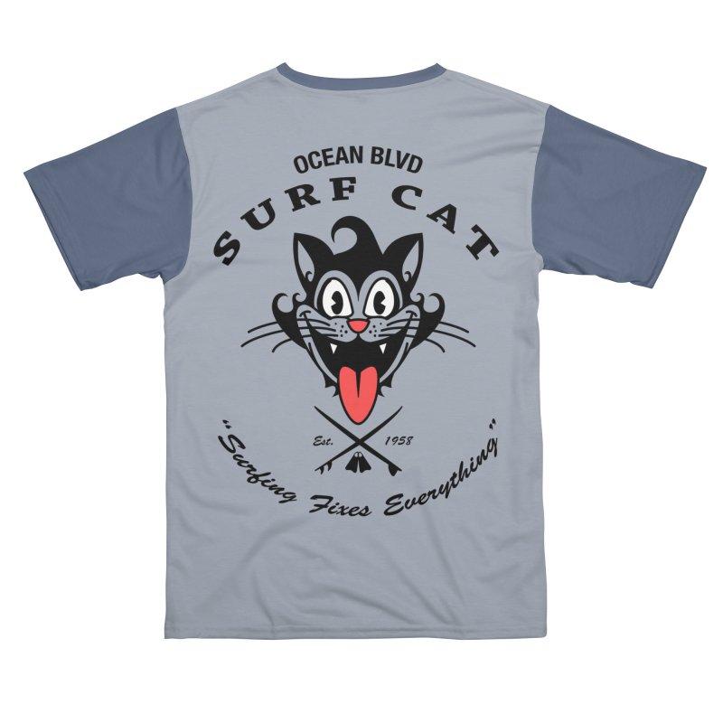 Surf Cat - happy Men's Cut & Sew by Dale Shimato's Artist Shop
