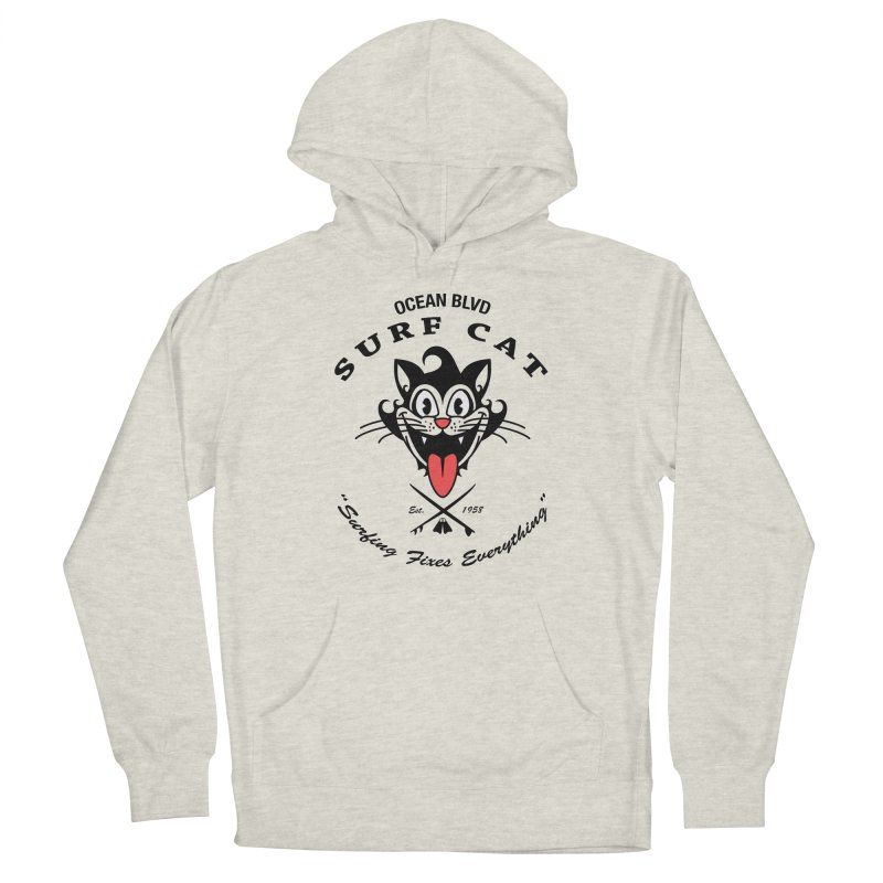 Surf Cat - happy Men's Pullover Hoody by Dale Shimato's Artist Shop