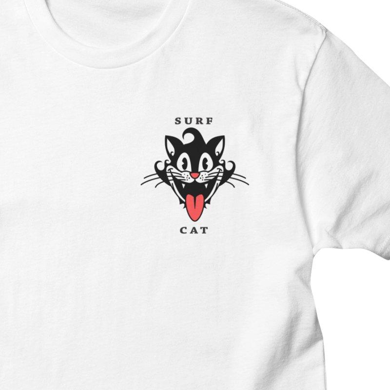 Surf Cat - happy Men's T-Shirt by Dale Shimato's Artist Shop