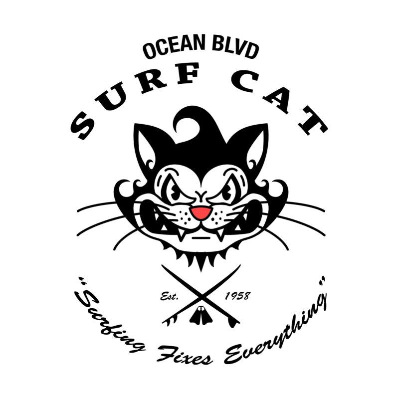 Surf Cat - mad Men's T-Shirt by Dale Shimato's Artist Shop