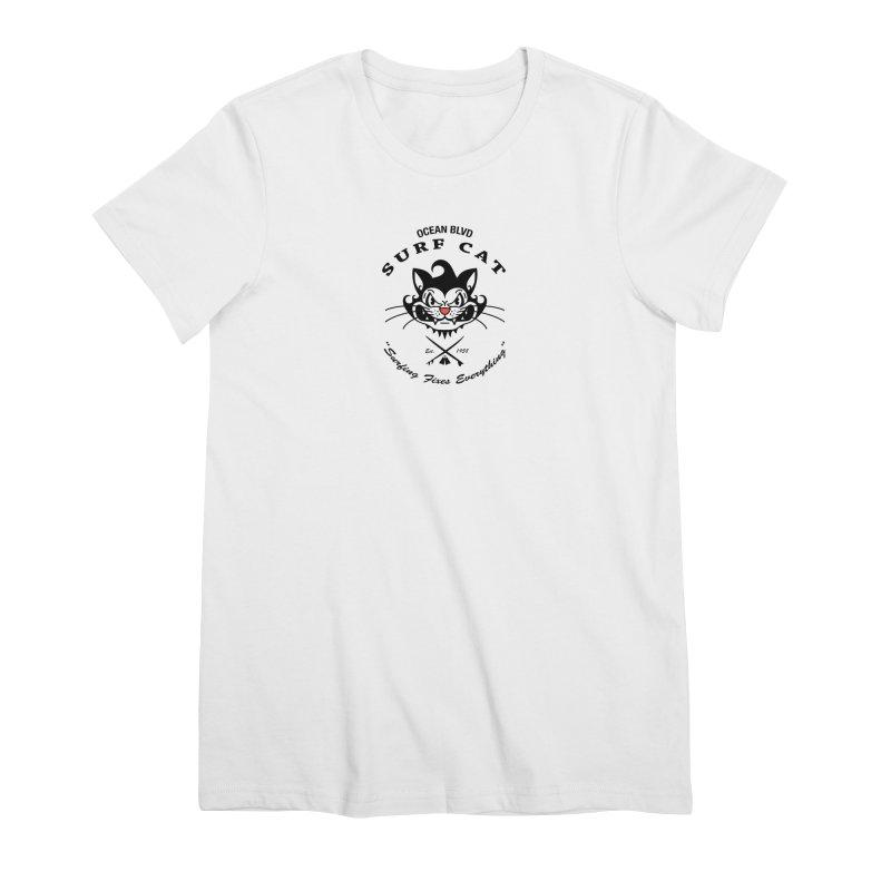 Surf Cat - mad Women's T-Shirt by Dale Shimato's Artist Shop