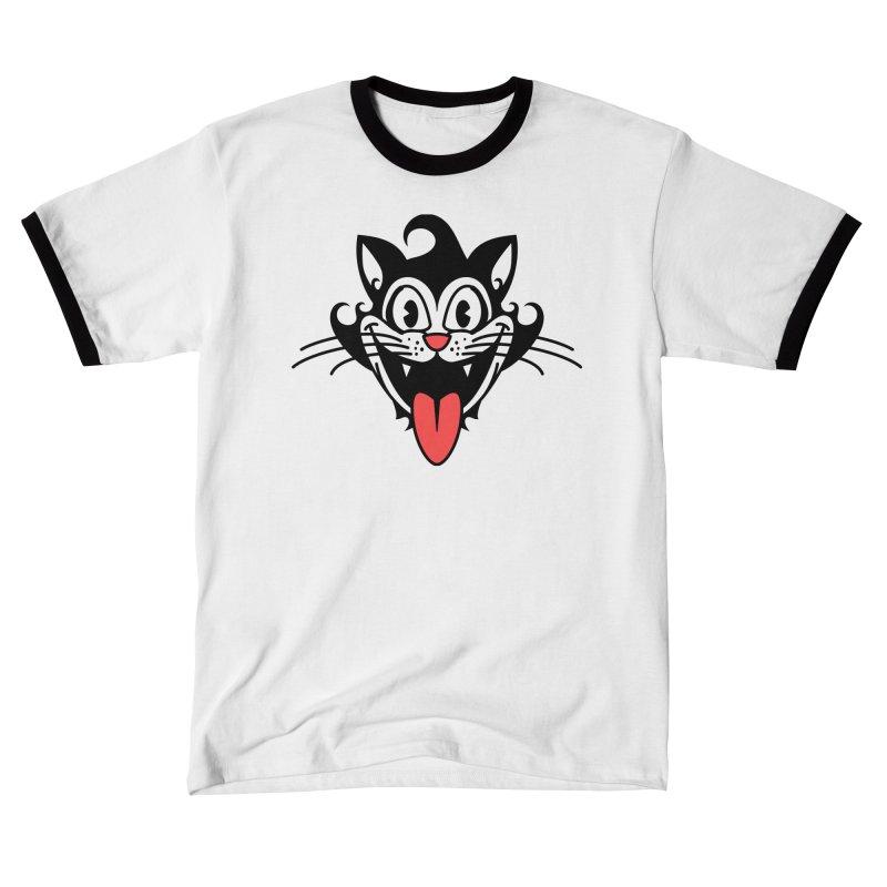 happy cat Men's T-Shirt by Dale Shimato's Artist Shop