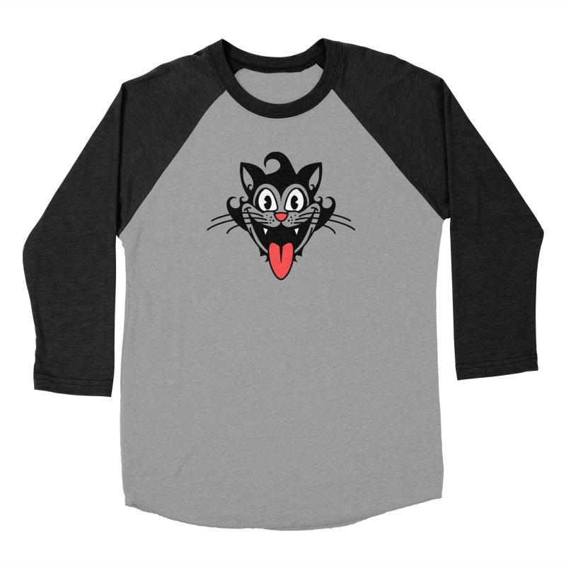 happy cat Women's Longsleeve T-Shirt by Dale Shimato's Artist Shop