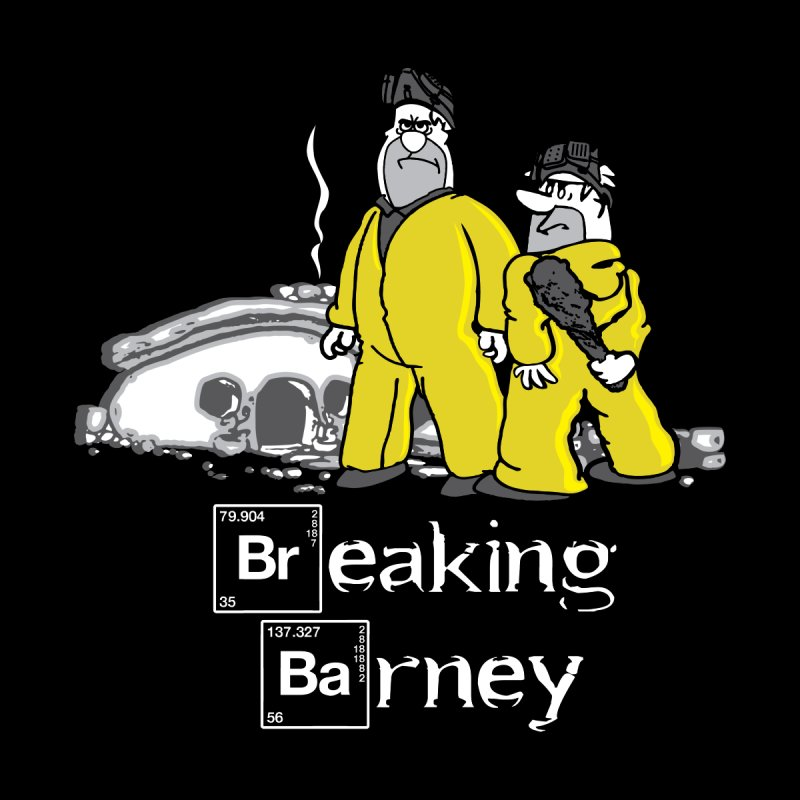 Breaking Barney Men's T-shirt by Daletheskater