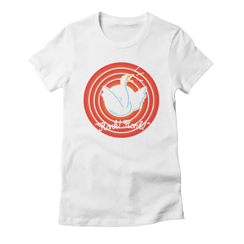 Honk! Honk! Women's Fitted T-Shirt by Daletheskater