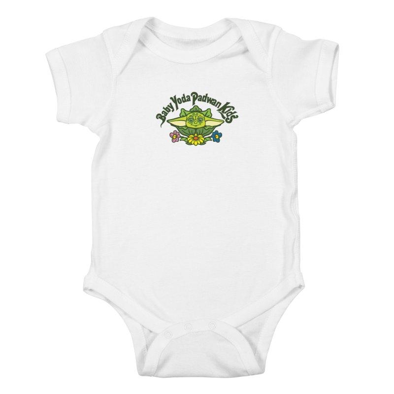 Baby Yoda Padwan Kids Kids Baby Bodysuit by Daletheskater