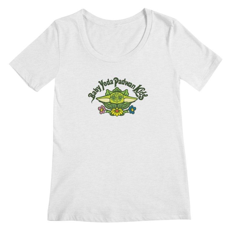 Baby Yoda Padwan Kids Women's Regular Scoop Neck by Daletheskater