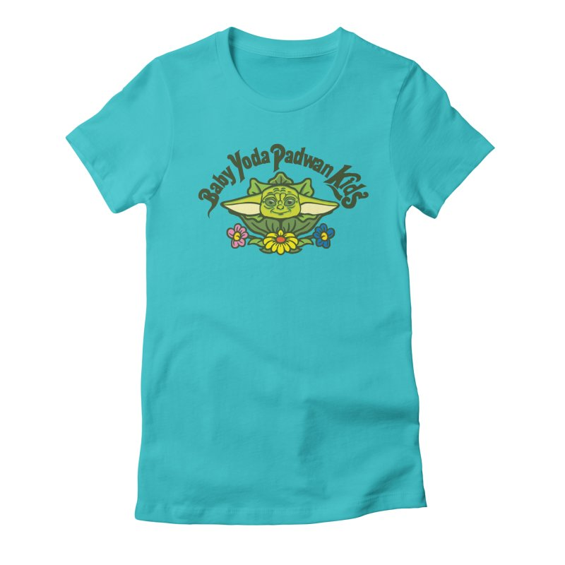 Baby Yoda Padwan Kids Women's Fitted T-Shirt by Daletheskater