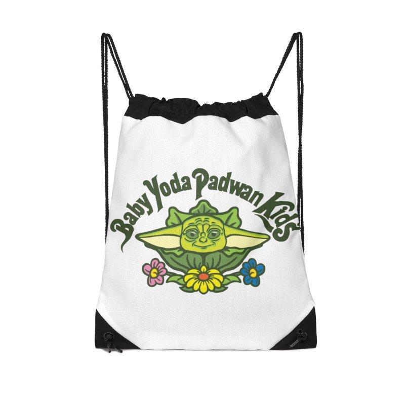 Baby Yoda Padwan Kids Accessories Drawstring Bag Bag by Daletheskater