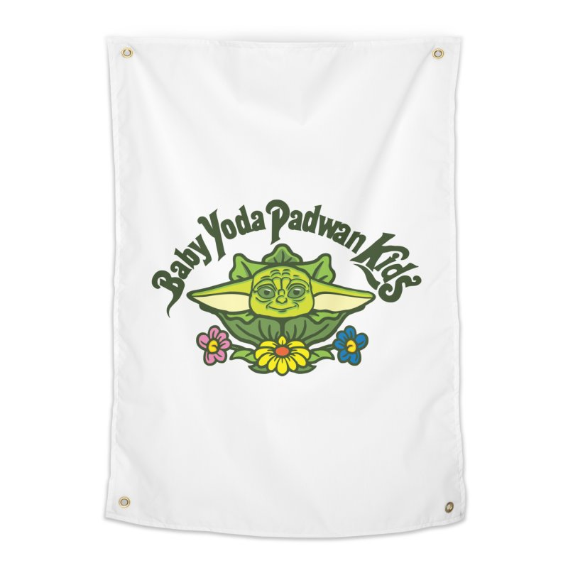 Baby Yoda Padwan Kids Home Tapestry by Daletheskater