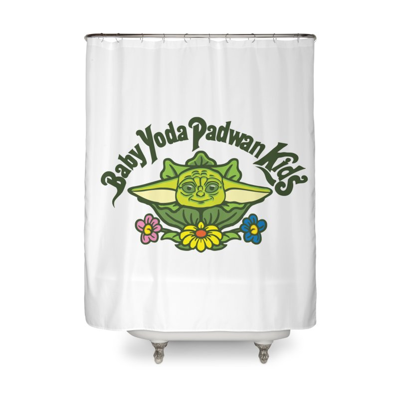 Baby Yoda Padwan Kids Home Shower Curtain by Daletheskater