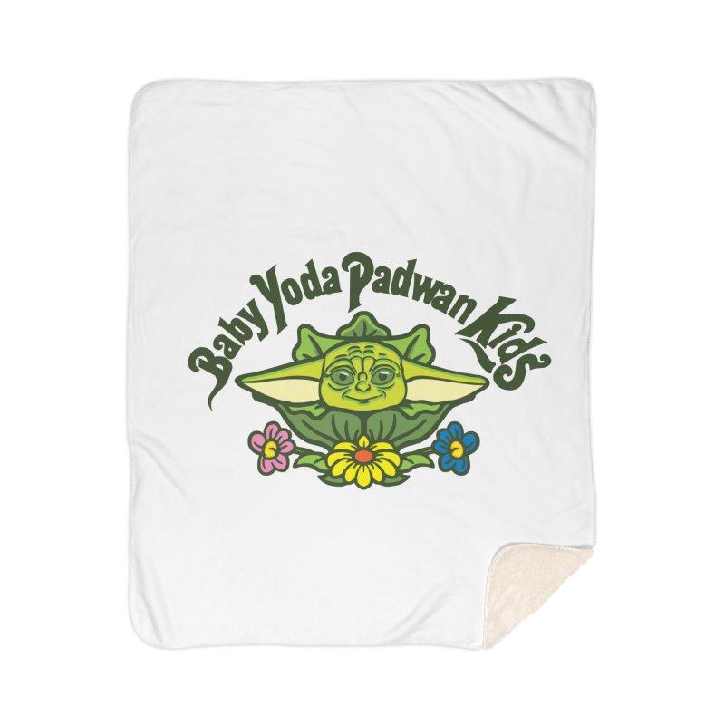 Baby Yoda Padwan Kids Home Sherpa Blanket Blanket by Daletheskater