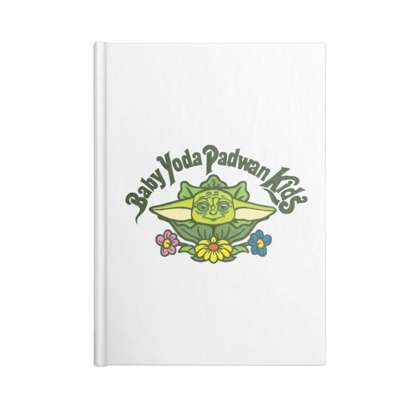 Baby Yoda Padwan Kids Accessories Lined Journal Notebook by Daletheskater