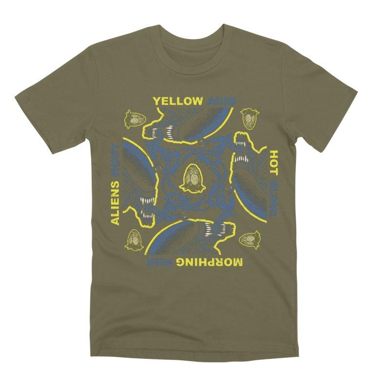 Yellow Hot Morphing Aliens Men's Premium T-Shirt by Daletheskater