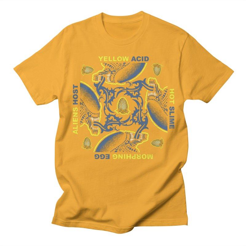 Yellow Hot Morphing Aliens Men's Regular T-Shirt by Daletheskater