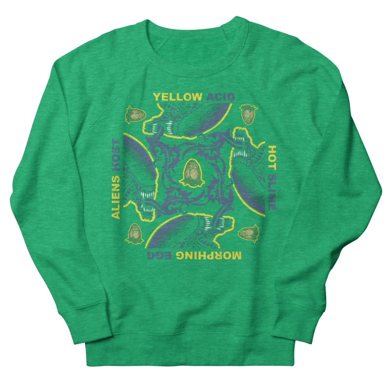 Yellow Hot Morphing Aliens Men's French Terry Sweatshirt by Daletheskater