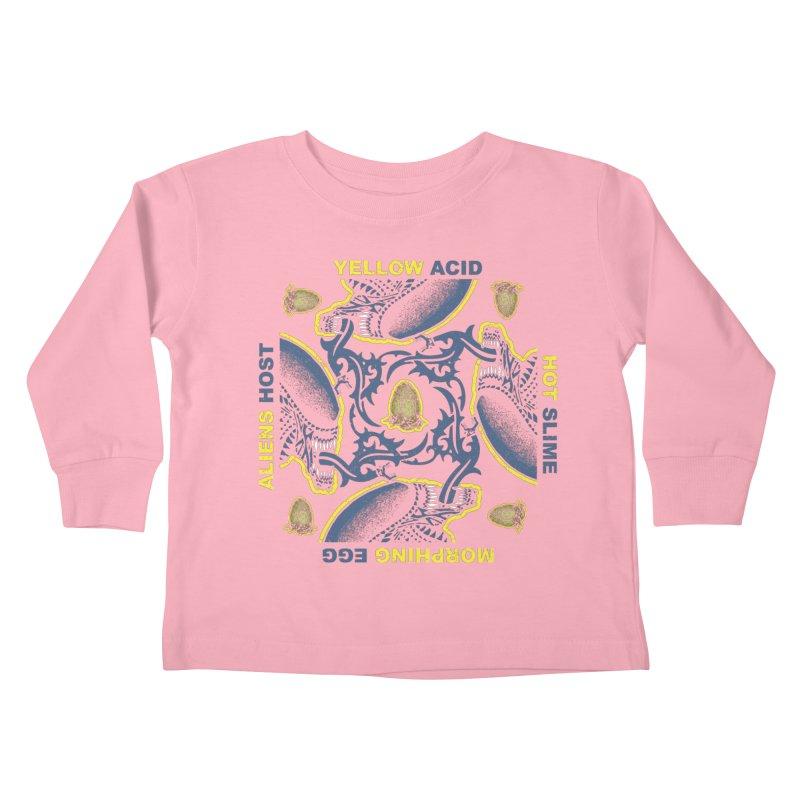 Yellow Hot Morphing Aliens Kids Toddler Longsleeve T-Shirt by Daletheskater