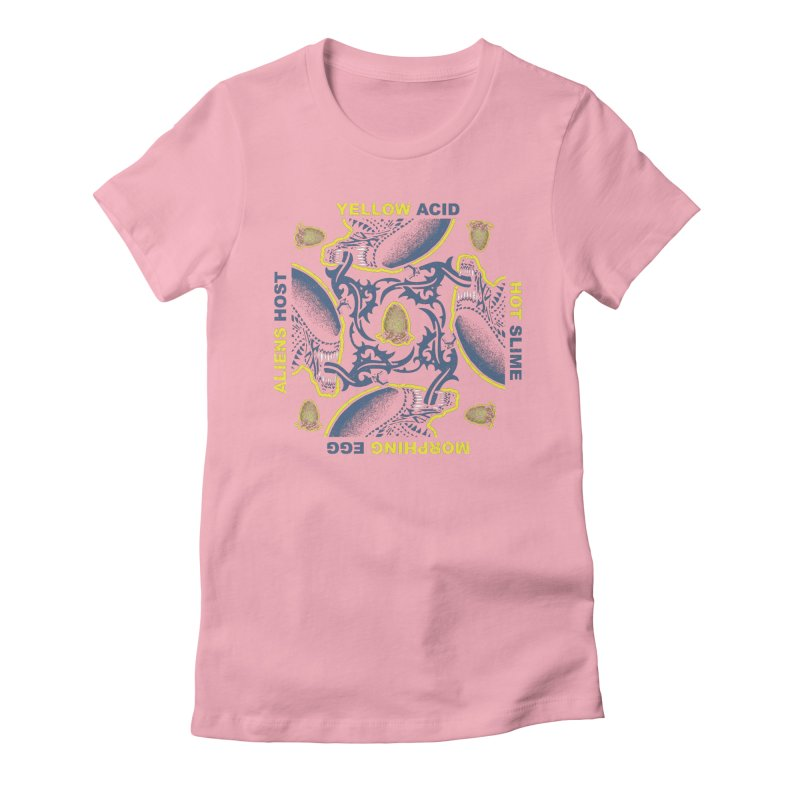 Yellow Hot Morphing Aliens Women's Fitted T-Shirt by Daletheskater