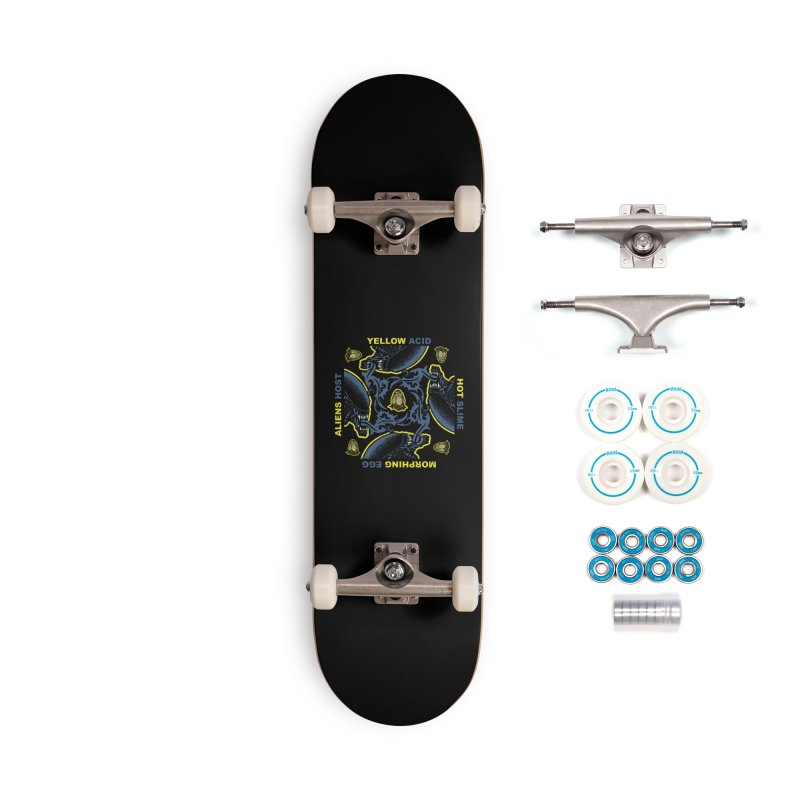 Yellow Hot Morphing Aliens Accessories Complete - Basic Skateboard by Daletheskater
