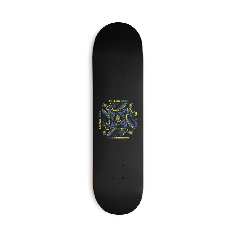 Yellow Hot Morphing Aliens Accessories Deck Only Skateboard by Daletheskater