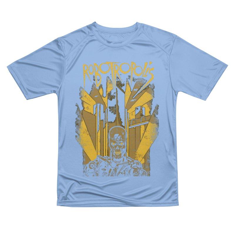 Robotropolis Men's T-Shirt by Daletheskater