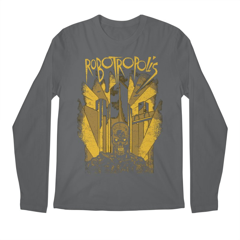 Robotropolis Men's Regular Longsleeve T-Shirt by Daletheskater