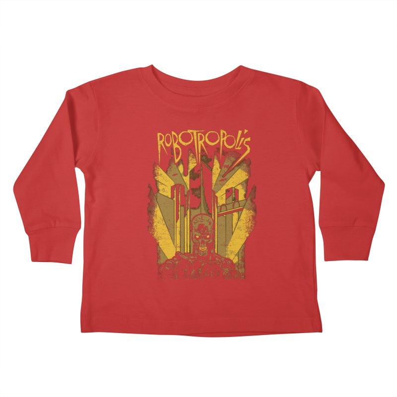 Robotropolis Kids Toddler Longsleeve T-Shirt by Daletheskater