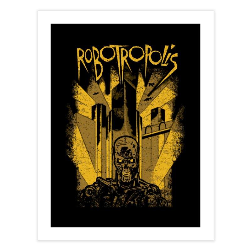 Robotropolis Home Fine Art Print by Daletheskater