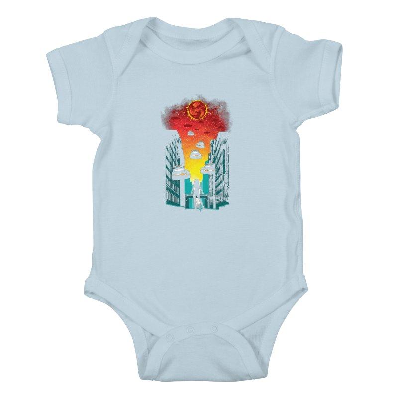 Space Fugitive Kids Baby Bodysuit by Daletheskater