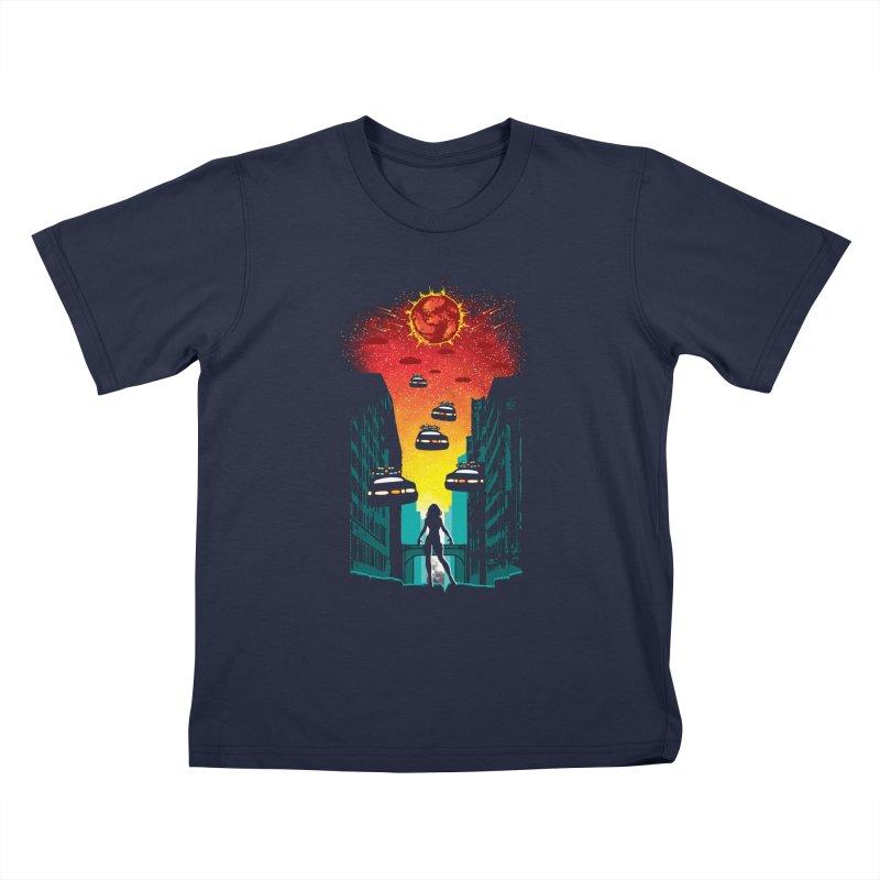 Space Fugitive Kids T-Shirt by Daletheskater