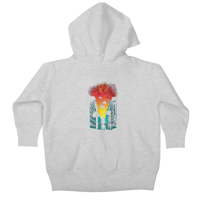 Space Fugitive Kids Baby Zip-Up Hoody by Daletheskater