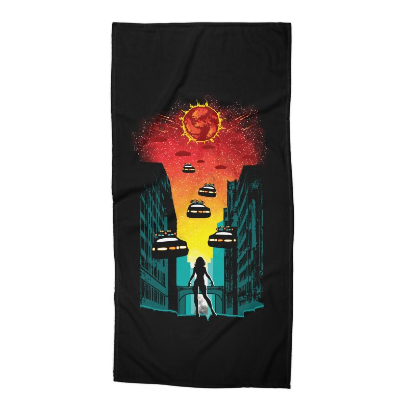 Space Fugitive Accessories Beach Towel by Daletheskater