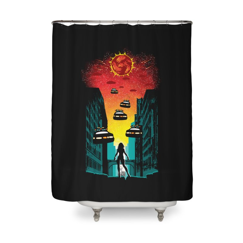 Space Fugitive Home Shower Curtain by Daletheskater
