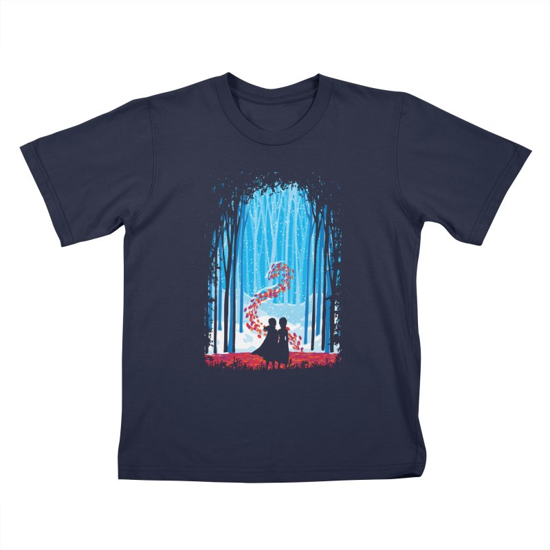 Forest Of Shadows Kids T-Shirt by Daletheskater