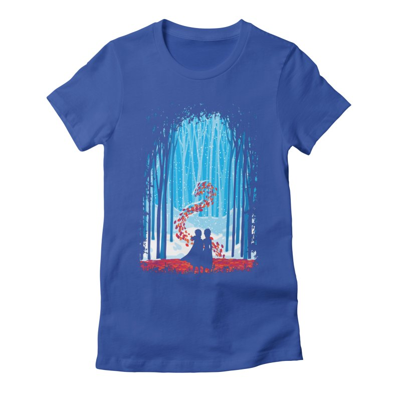Forest Of Shadows Women's Fitted T-Shirt by Daletheskater