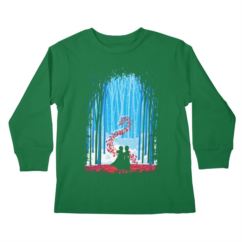 Forest Of Shadows Kids Longsleeve T-Shirt by Daletheskater