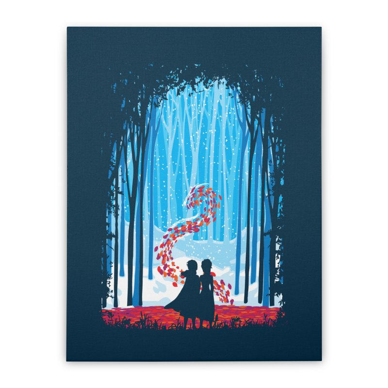 Forest Of Shadows Home Stretched Canvas by Daletheskater