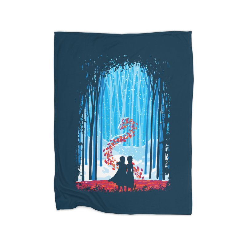 Forest Of Shadows Home Fleece Blanket Blanket by Daletheskater