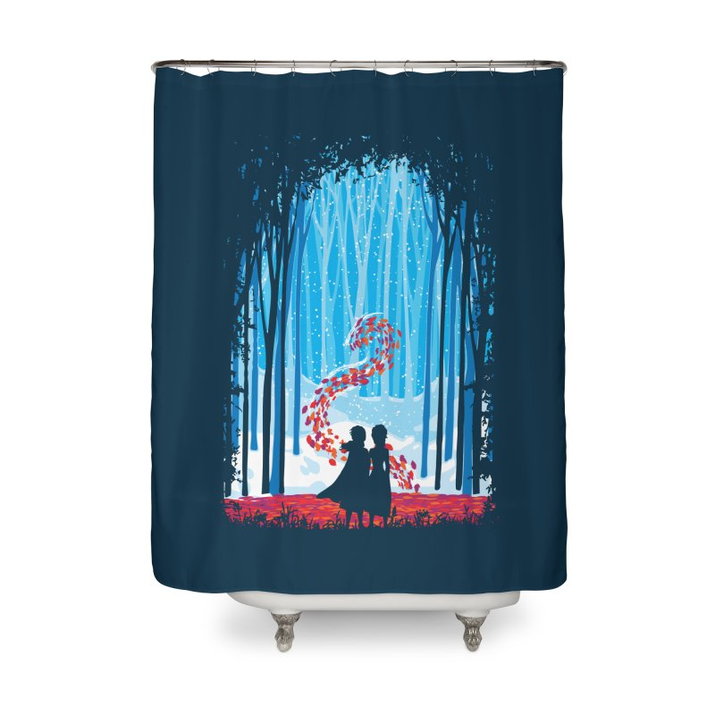Forest Of Shadows Home Shower Curtain by Daletheskater