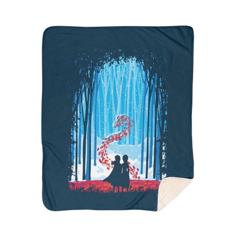 Forest Of Shadows Home Sherpa Blanket Blanket by Daletheskater