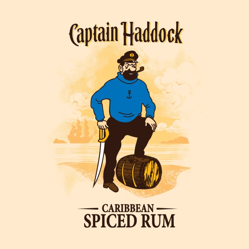 Captain Haddock Women's T-Shirt by Daletheskater