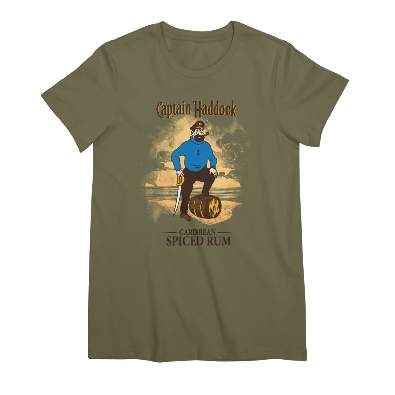 Captain Haddock Women's Premium T-Shirt by Daletheskater