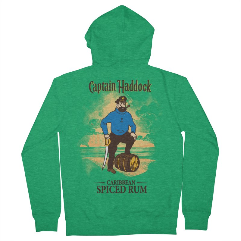 Captain Haddock Men's Zip-Up Hoody by Daletheskater