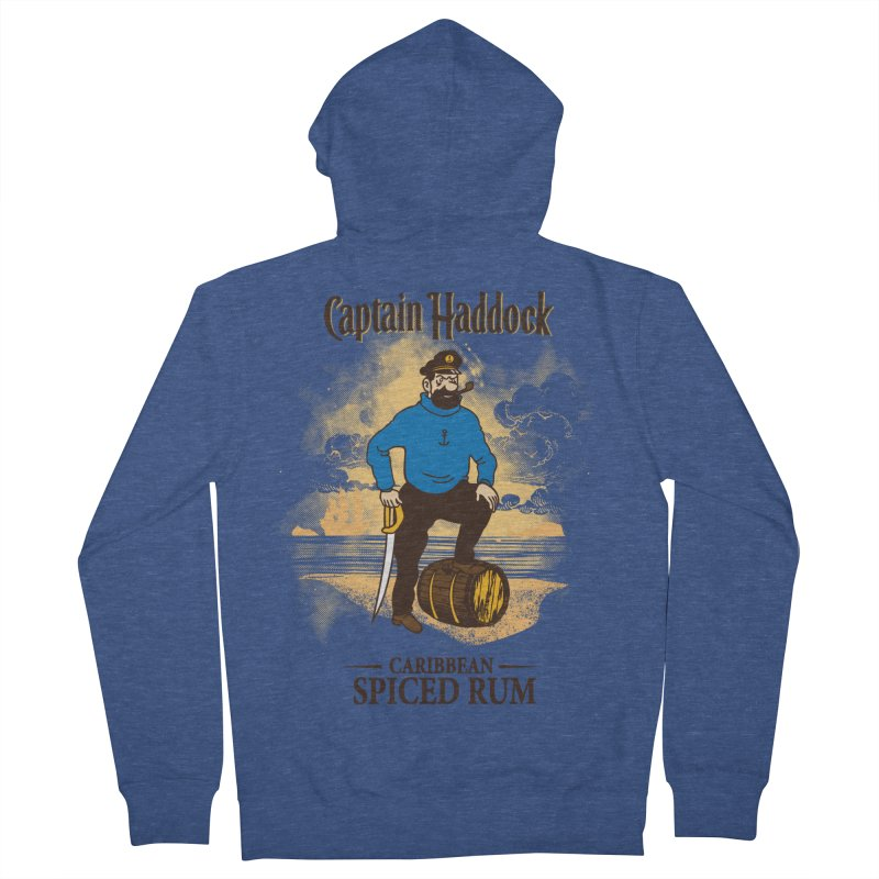 Captain Haddock Men's French Terry Zip-Up Hoody by Daletheskater