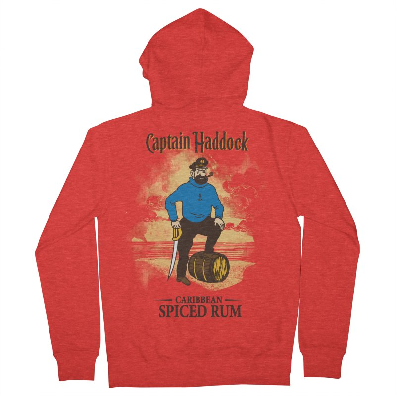 Captain Haddock Men's Zip-Up Hoody by Daletheskater