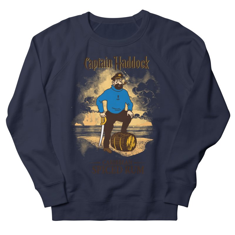 Captain Haddock Men's French Terry Sweatshirt by Daletheskater