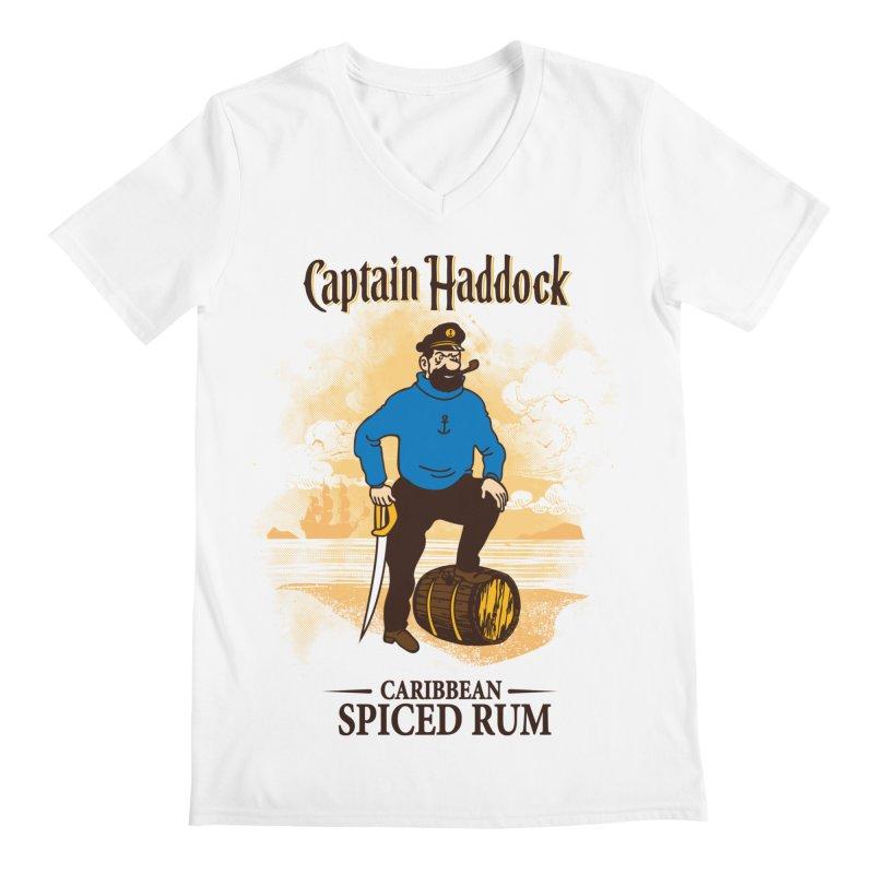 Captain Haddock Men's V-Neck by Daletheskater