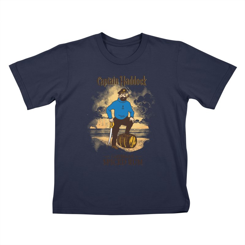 Captain Haddock Kids T-Shirt by Daletheskater