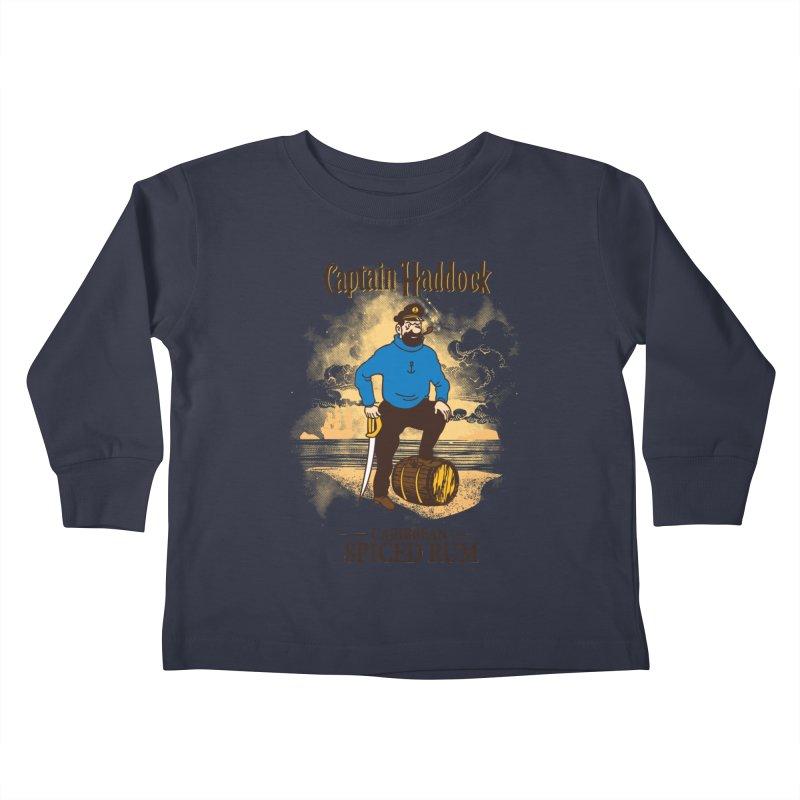 Captain Haddock Kids Toddler Longsleeve T-Shirt by Daletheskater
